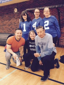 2015 Canadian Junior Goalball Nationals - Junior Players and Coaches with Walter Gretzky