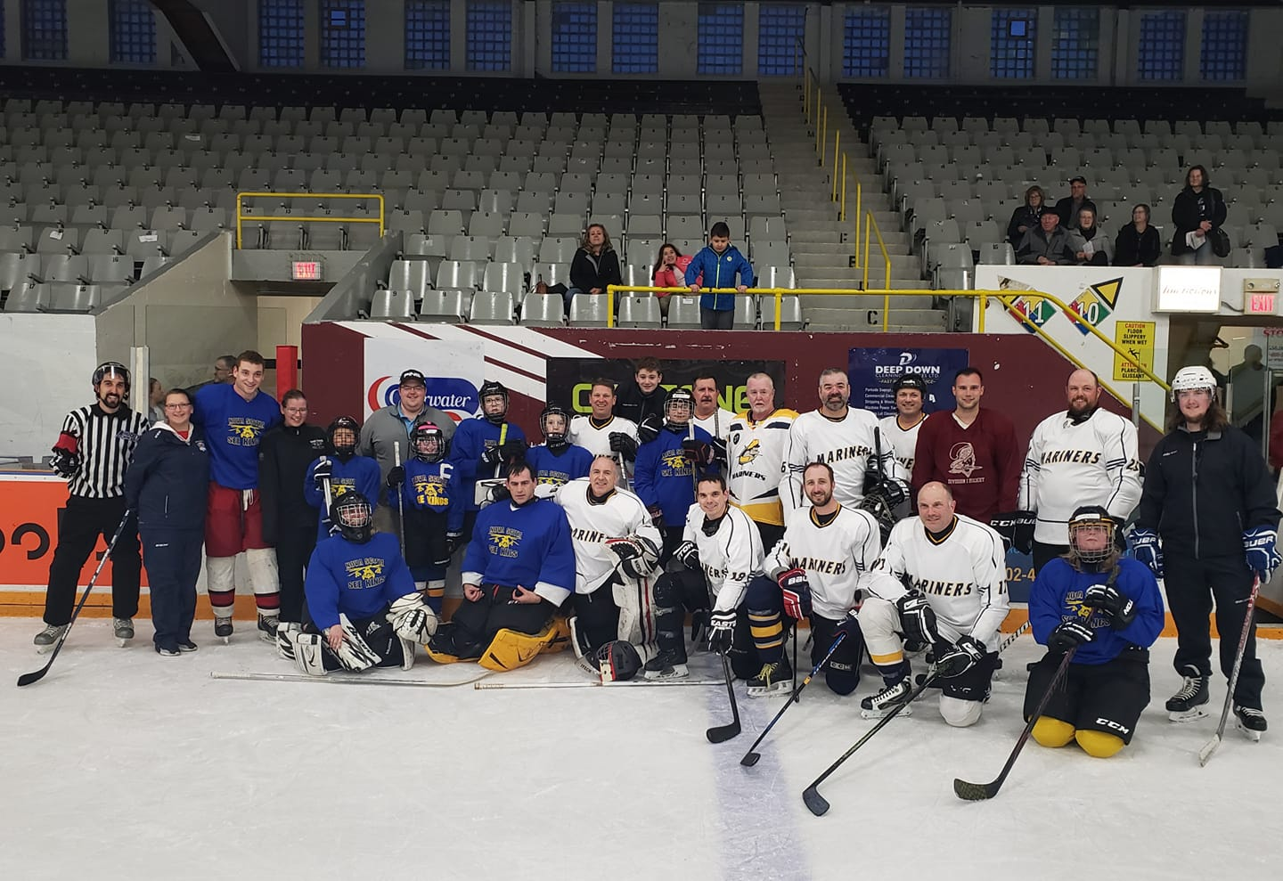 group photo of hockey players