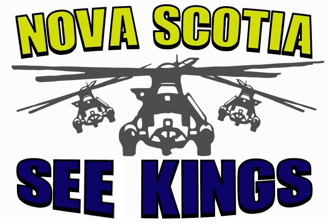 Nova Scotia See Kings logo with 3 helicopters