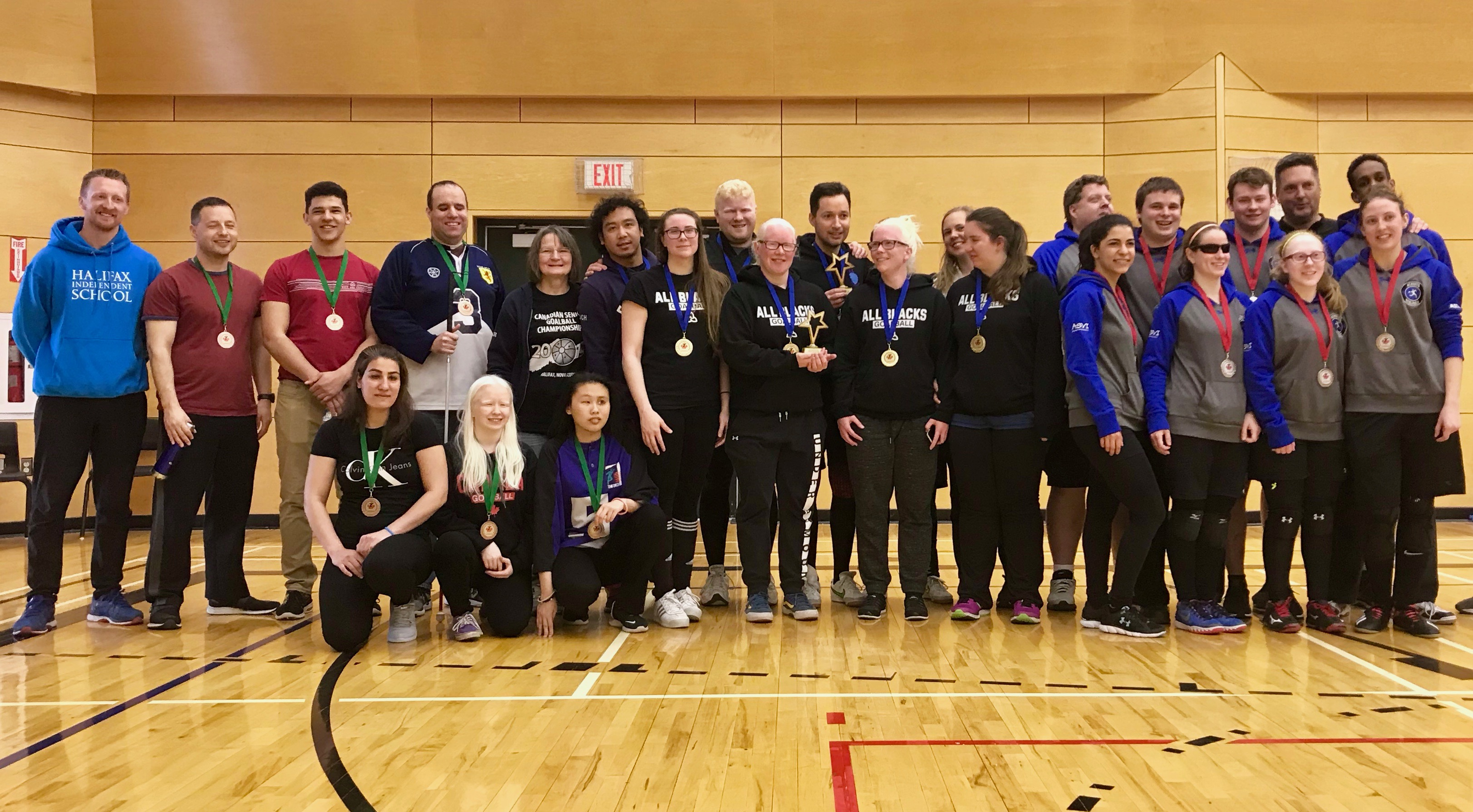Group photo of all medal winners & coaches