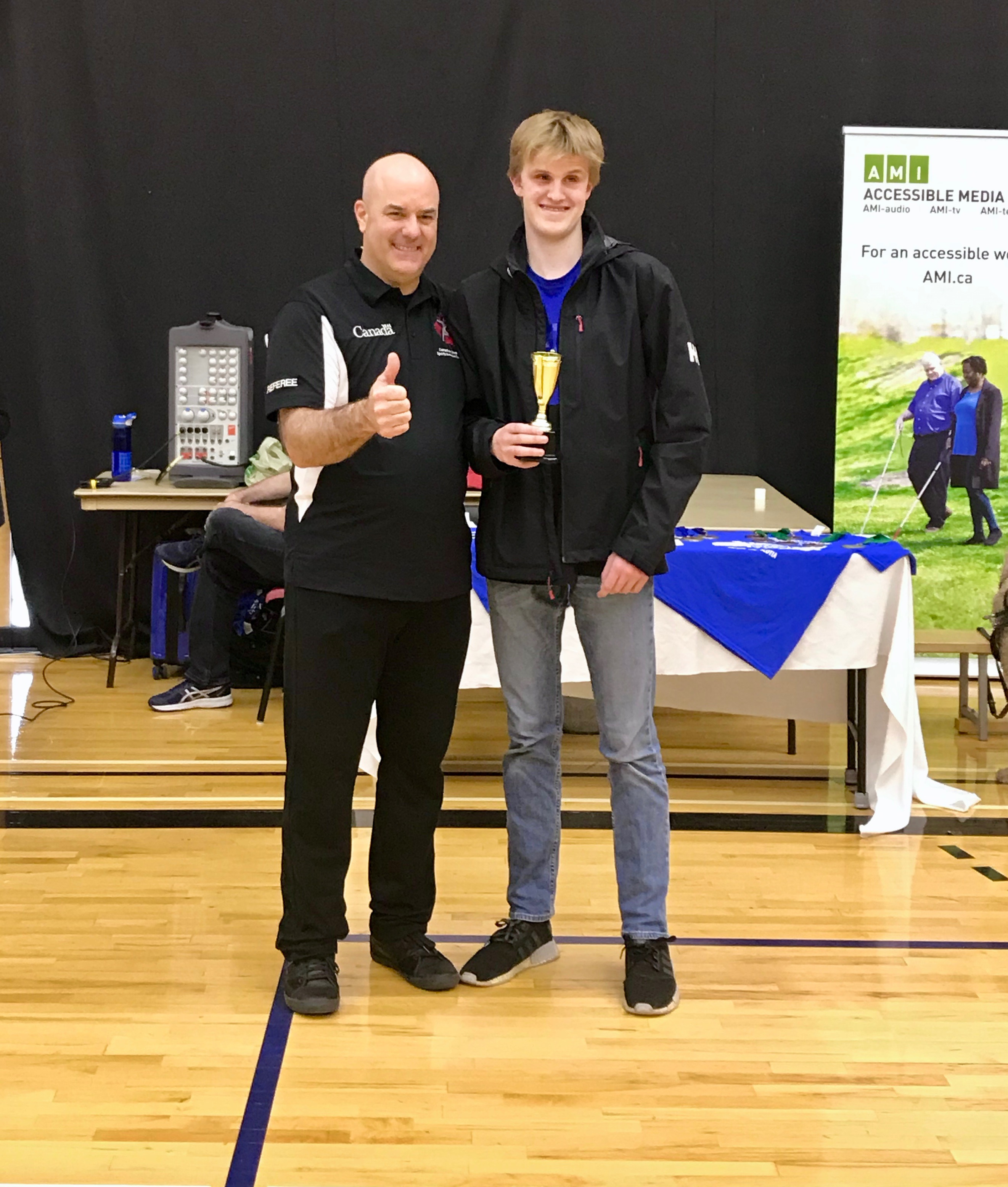 Nova Scotia's Nick Gentlemen with Spirit Award 2019